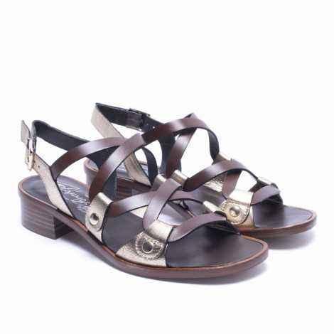 Strips Flat Sandals