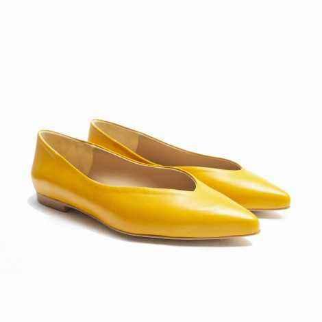Mustard Flat Shoes