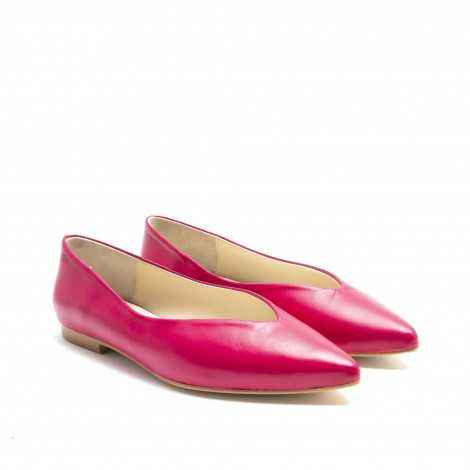 Red Pink Flat Shoes