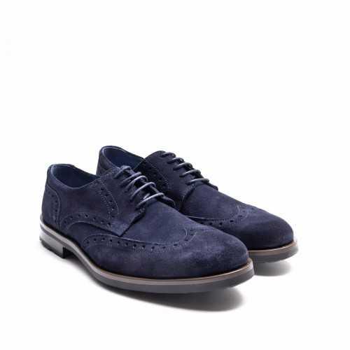 Blue Suede Derby Shoes