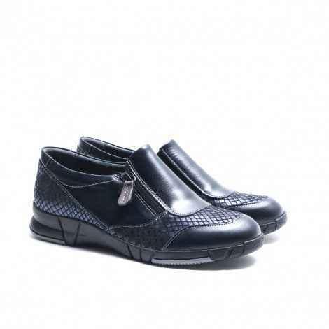 Blue Zip Shoe