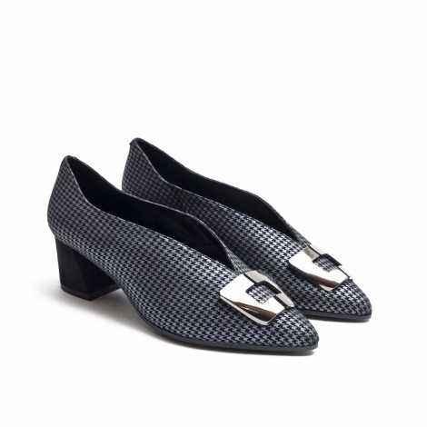 Black Pied-de-Coque Shoes