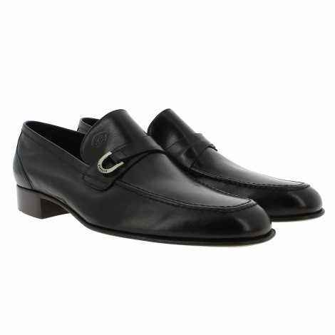 Black kangaroo Leather Loafer