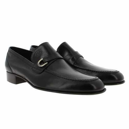 Black kangaroo Leather Loafer