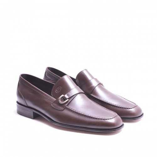 Tan kangaroo Leather Loafer