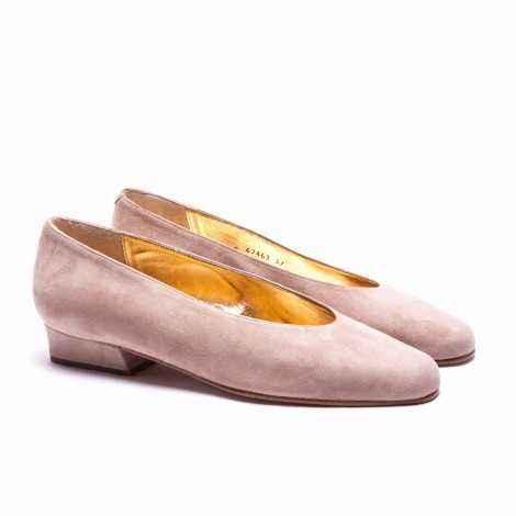 Brown Suede Heel Shoes