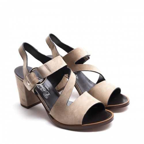 Suede High Sandals