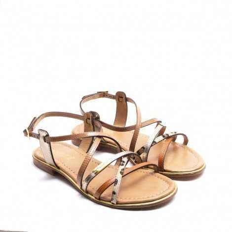 Strip Flat Sandals