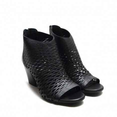High Ankle Perforated Boot