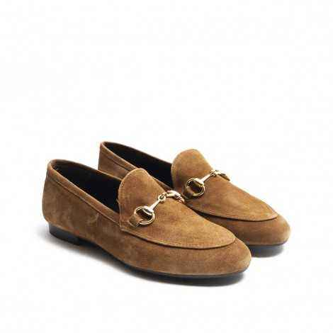 Brown Stirrup Loafer