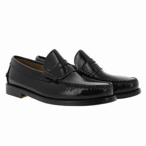 Black Leather Loafer