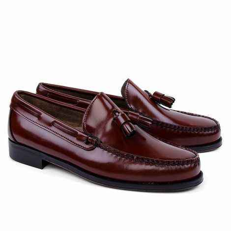 Tassel Loafer in Bronw Leather