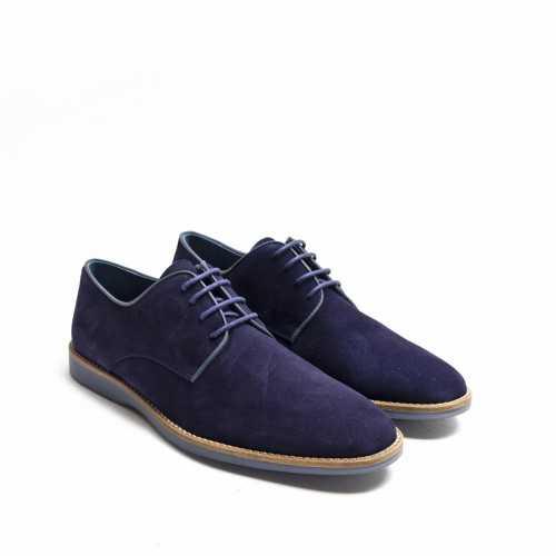 Blue Suede Lace-up Shoes