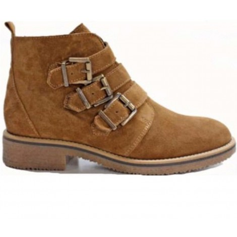 Monk Suede Ankle Boots