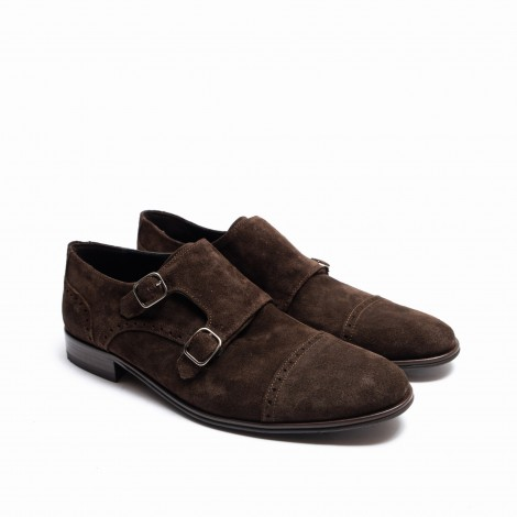 Suede Monk Shoe