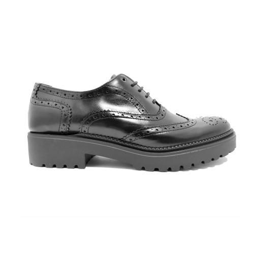 Black Leather oxford