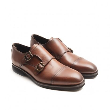 Double Monk Flat Heel