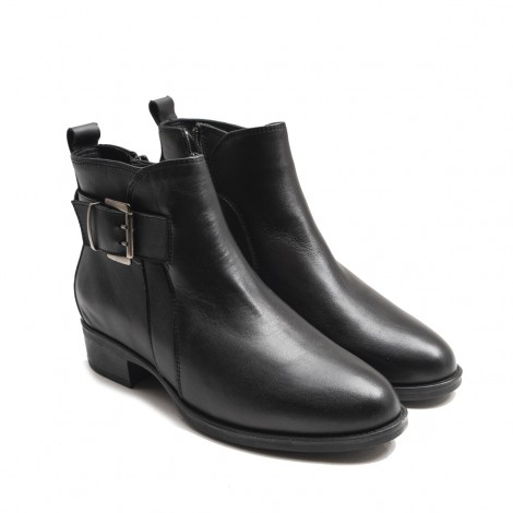 Monk Leather Ankle Boots