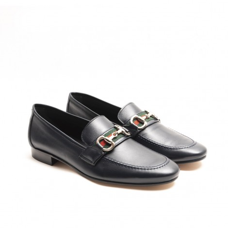 Band and Stirrup Blue Loafer