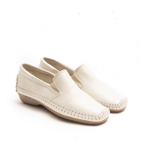 Beige Elastic Loafer