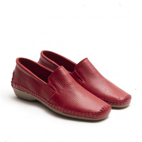 Red Elastic Loafer