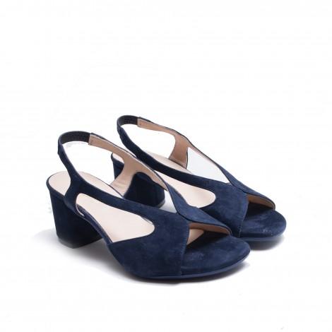 Blue Suede Sandal