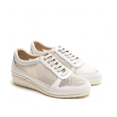 White Perforate Sneaker