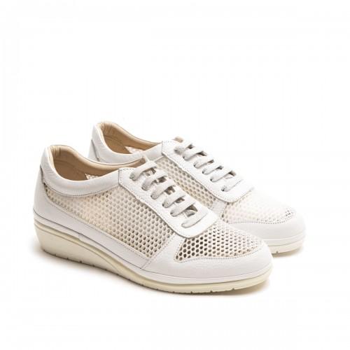 White Perforate Sneaker