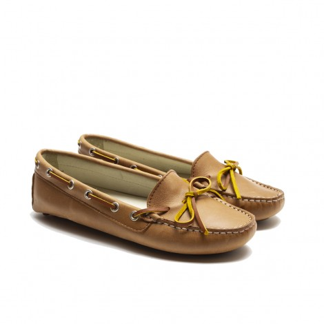 Tan Lace Loafer