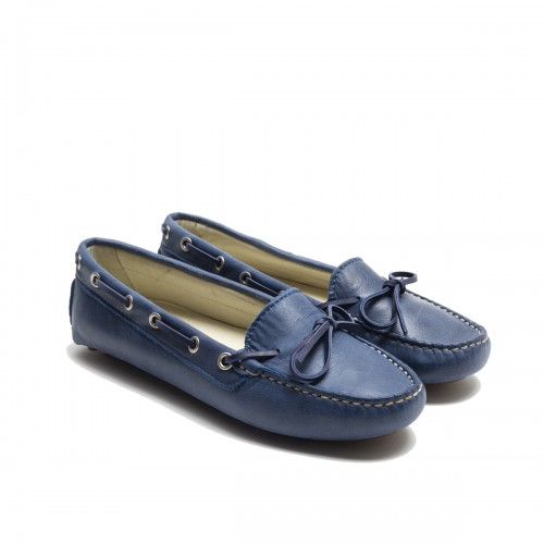 Blue Lace Loafer