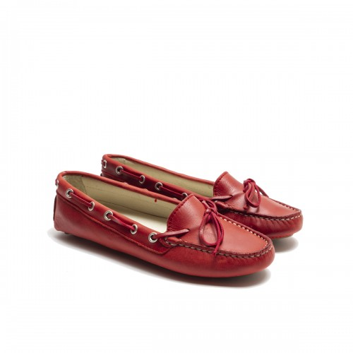 Red Lace Loafer