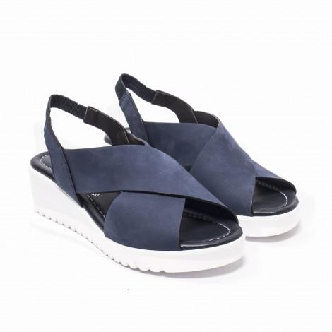 Blue Suede Sandals