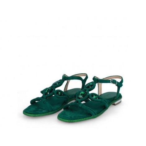 Green Stone Sandals