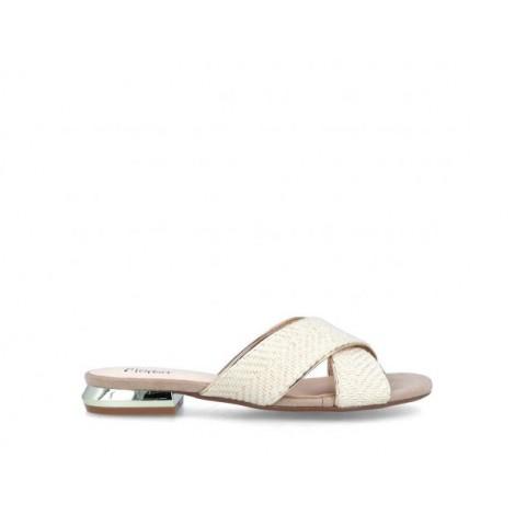Crossed Strips Sandals