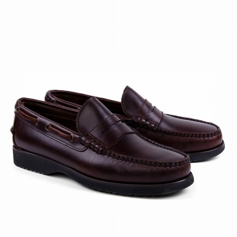 Brown Leather Penny Loafer