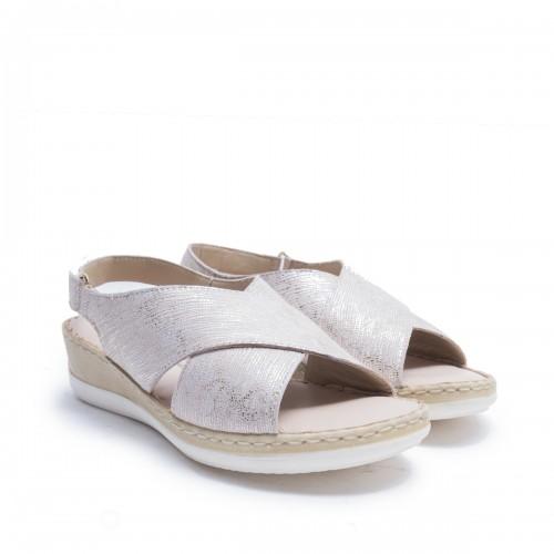 Wedge Cross Sandals