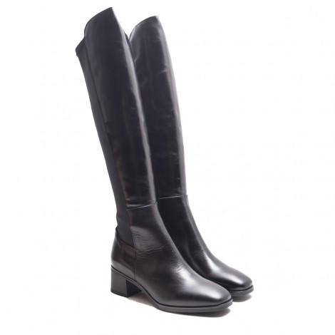 Leather and Lycra Boot