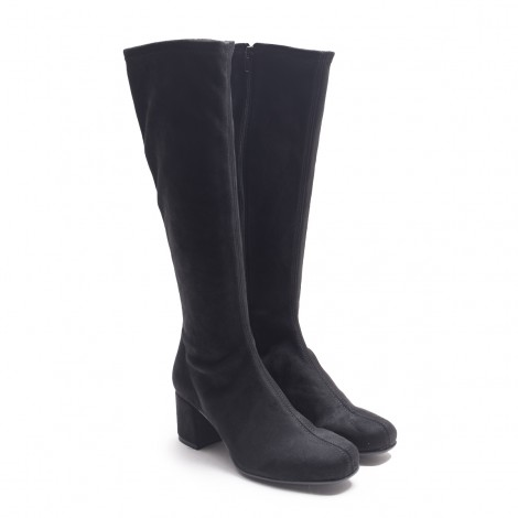 Elastic Suede Leather Boot