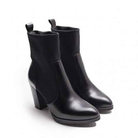 Leather Lycra Ankle Boot