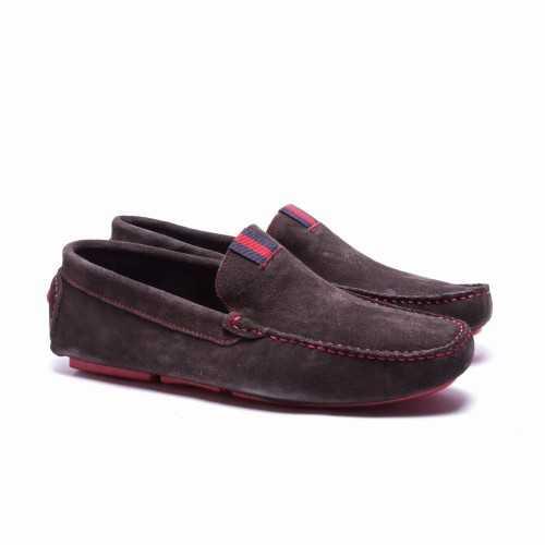 Grey Suede Loafer