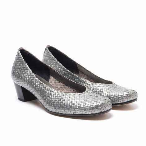 Woven Silver Shoe