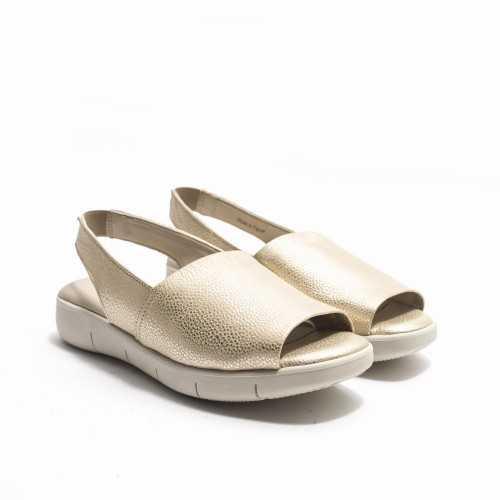 Sandalia Piel Oro
