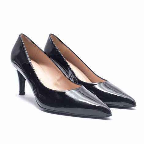 Black Patent Leather Heel Shoes