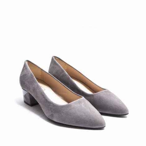Grey Heel Shoes