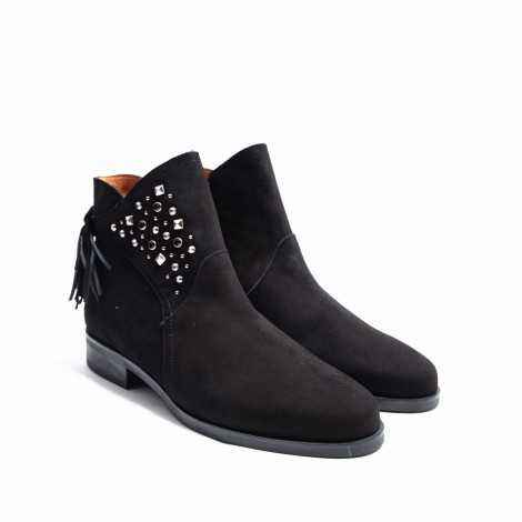 Fringes and Studs Ankle Boot