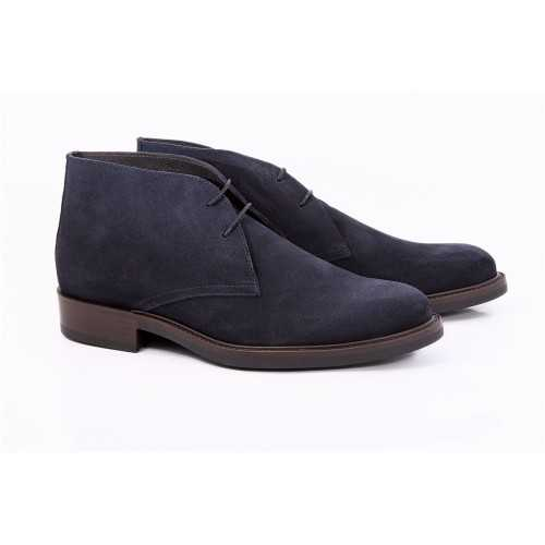 Ankle Boot Blue Suede