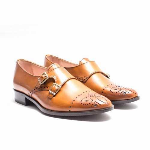 Double Monk Flat Shoes