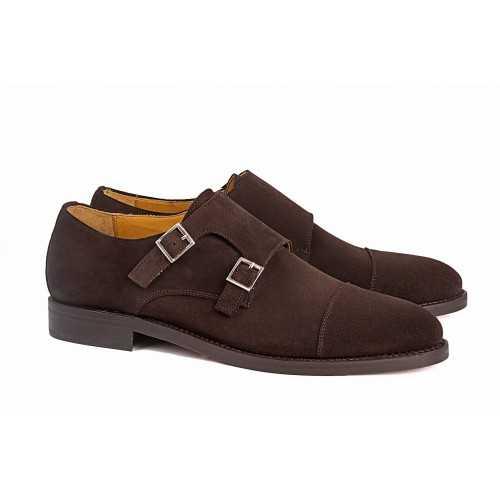 Zapato Dos Hebillas Ante.