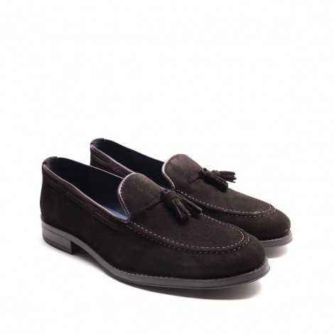 Brown Suede Tassels Loafer