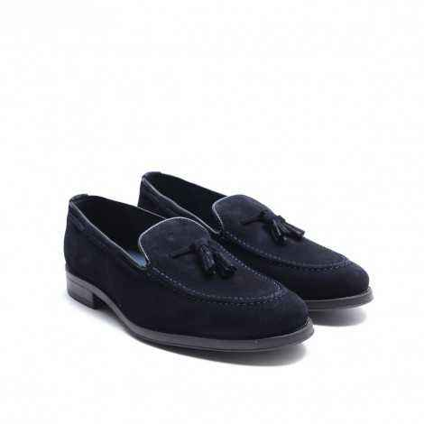 Blue Suede Tassels Loafer